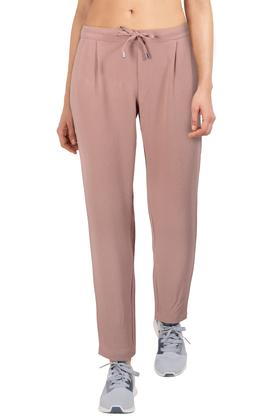 Womens Pleated Front Solid Pants