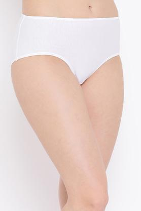 Womens Mid Waist Solid Teen Hipster Briefs