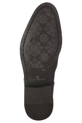 Mens Leather Slipon Monk Shoes