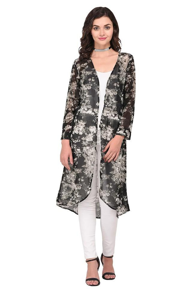 Womens Open Front Printed Shrug