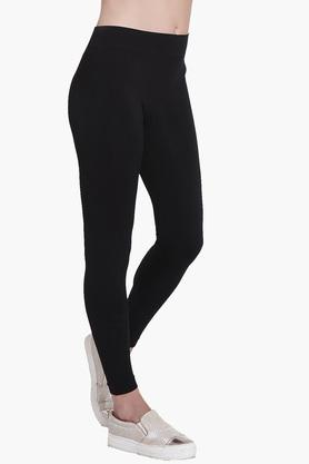 Womens Full Length Solid Leggings