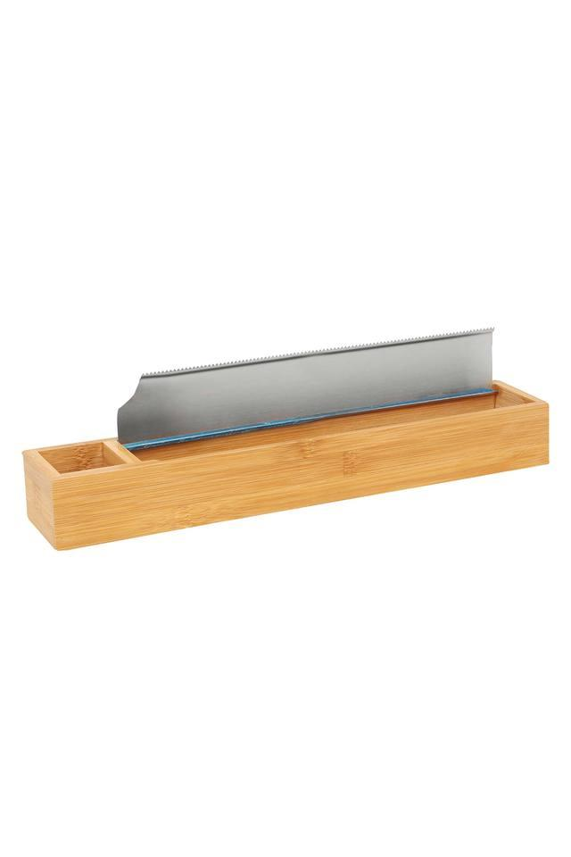 Bamboo Foil Roll Holder with Stainless Steel Blade