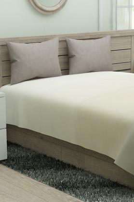 Colour Block Double Bed Sheet with Pillow Cover
