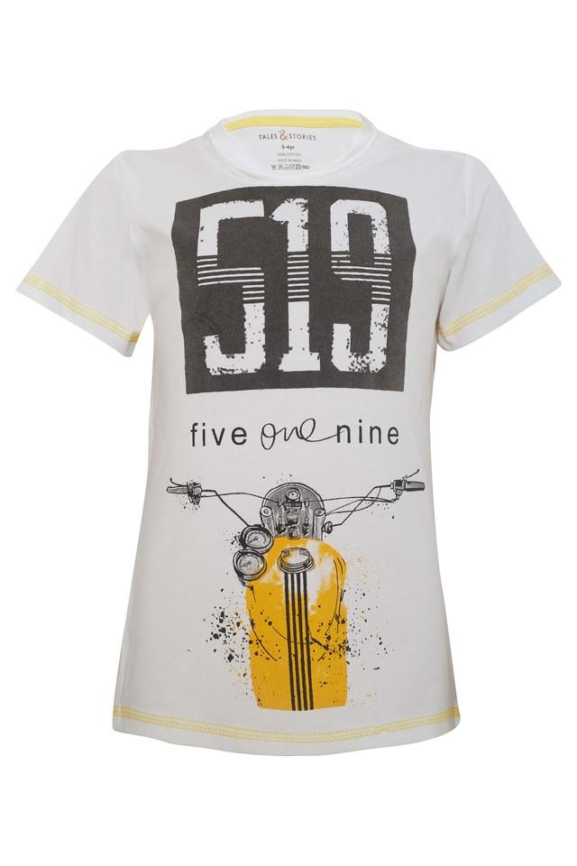 Boys Round Neck Printed T-Shirts