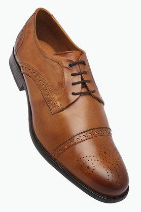 VENTURINI Mens Leather Lace Up Derbys - 203021419