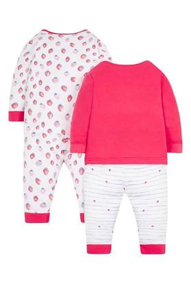 Girls Envelope Neck Printed Tee and Pants - Pack of 2