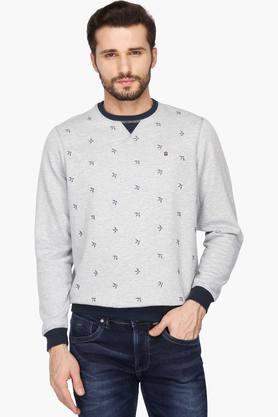 LOUIS PHILIPPE SPORTSMens Round Neck Printed Sweatshirt