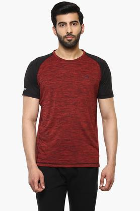 PROLINE Mens Round Neck Colour Block T-Shirt - 203341533_9607