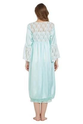 Womens Round Neck Lace Robe