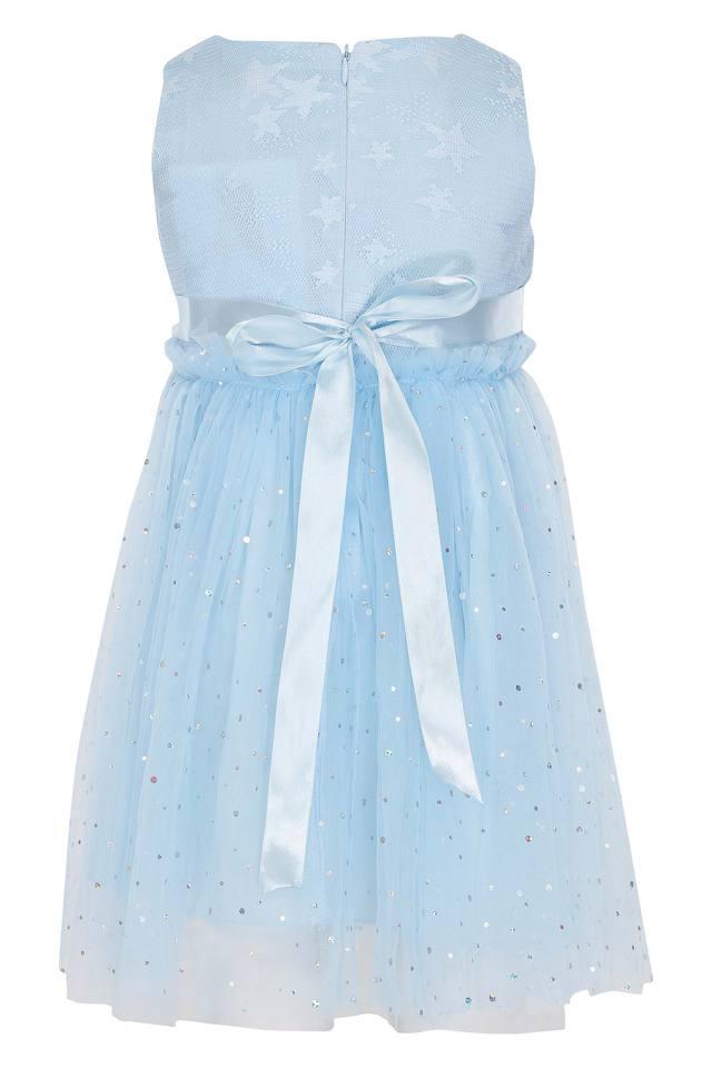 Girls Round Neck Assorted Layered Dress