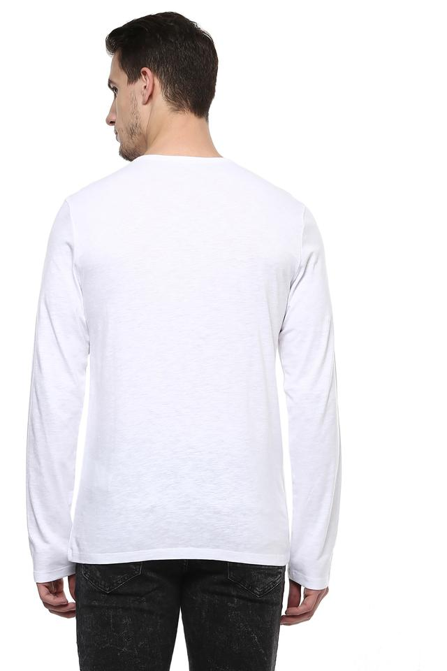 Mens Mandarin Neck Slub T-shirt