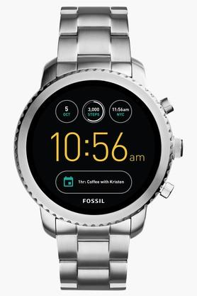 FOSSIL Mens Q Explorist Stainless Steel Gen 3 Smart Watch - FTW4000