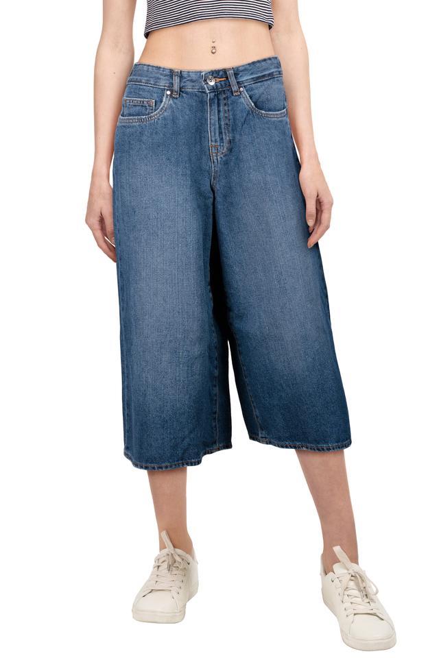 Womens 5 Pocket Mild Wash Culottes