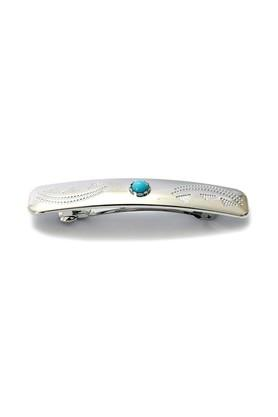 Womens Silver Plated Synthetic Hair Clip