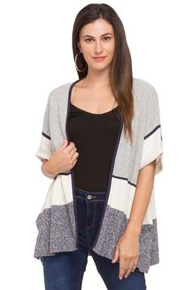 ELLE Womens Open Neck Knitted Cardigan