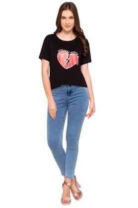 Womens 2 Pocket Mild Wash Jeans