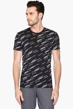 ADIDAS Mens Round Neck Printed T-Shirt - 203005954