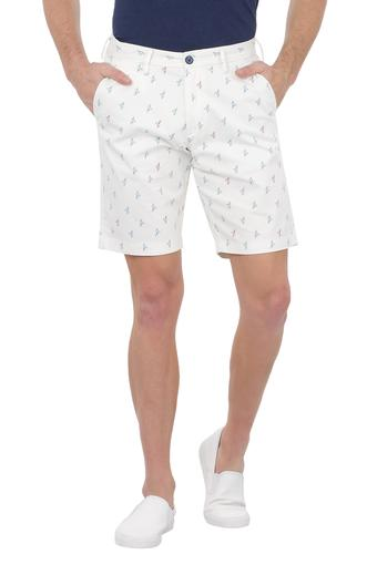 ALLEN SOLLY -  Off White Shorts & 3/4th - Main