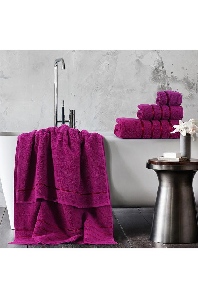 Bamboo Ultra Soft Pure Cotton Bath Towel - 600 GSM Lilac
