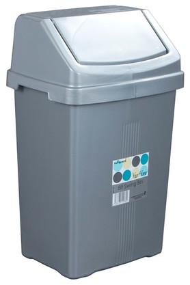 WHATMORE Swing Top Plastic Dustbin