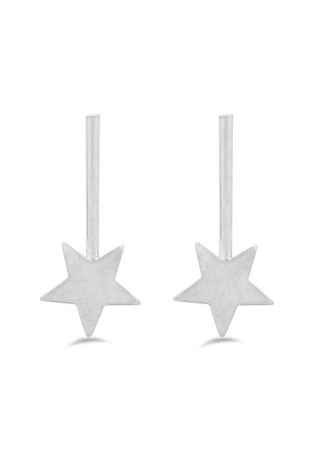 Womens Star Drop Earrings