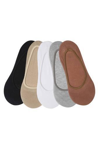 Womens Solid and Slub Socks Pack of 5