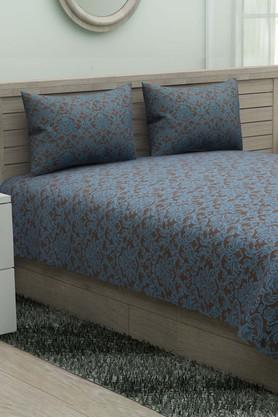 IVYPrinted Double Bedsheet With 2 Pillow Covers - 203966366_9308