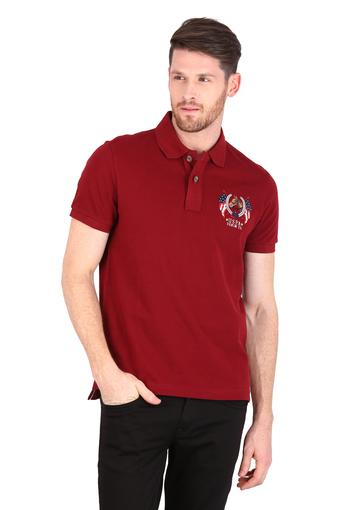U.S. POLO ASSN. DENIM -  Red Mix T-Shirts & Polos - Main