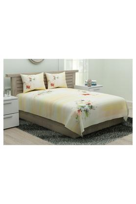 SPACES Utopia Printed King Bed Sheet With Pillow Cover - 204824911_9900