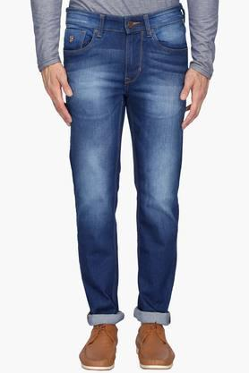 U.S. POLO ASSN. DENIM Mens 5 Pocket Skinny Fit Heavy Wash Jeans (Regallo Fit) - 203152795