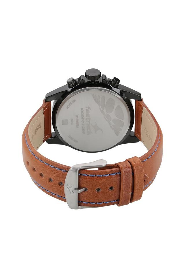 Mens Loopholes  Chronograph Leather Watch - 3169NL01