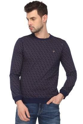 ALLEN SOLLY Mens Round Neck Printed Reversible Sweatshirt