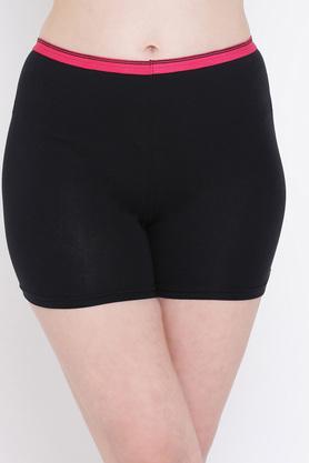 Womens Mid Waist Solid Boy Shorts