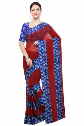 RACHNA Womens Georgette Printed Saree With Blouse - 204088370_9607