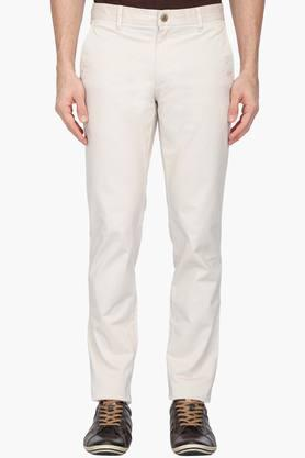 LOUIS PHILIPPE SPORTS Mens 4 Pocket Solid Chinos - 203146878