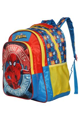Unisex Spiderman 3 Compartment Zip Closure Backpack