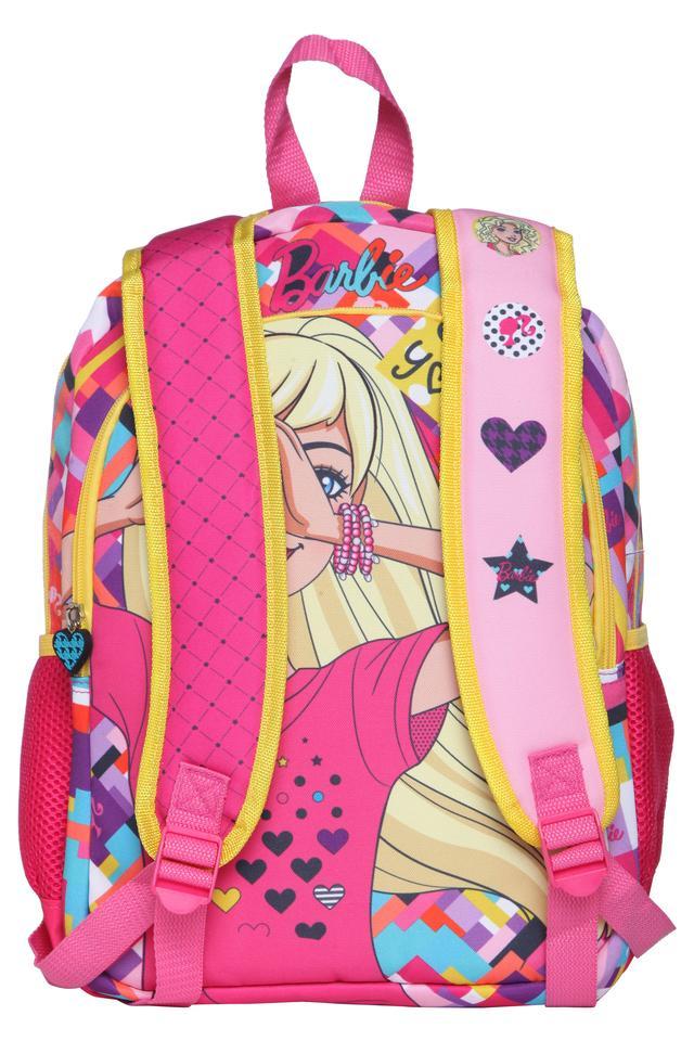 Girls Barbie 3 Compartment Zip Closure Backpack