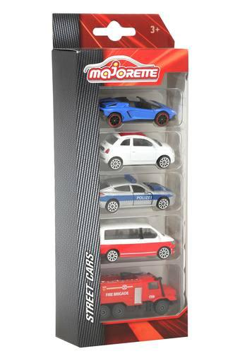 Kids Majorette Street Car - Set of 5