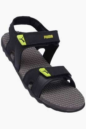 PUMA Mens Synthetic Leather Velcro Closure Sandals