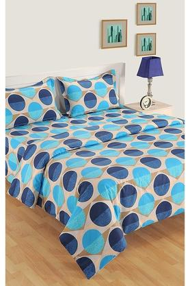 SWAYAM Abstract Print Double Bed Sheet With 2 Pillow Covers And Double AC Comforter - 204750278_9308