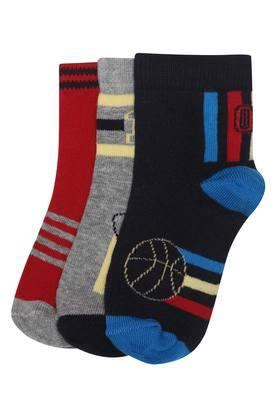 LIFE Mens Printed Socks - Pack Of 3 - 204137000_9900