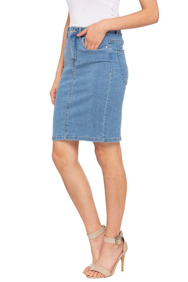 Womens 5 Pocket Washed Skirt