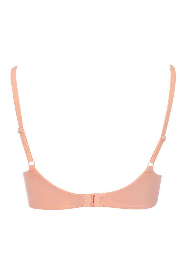 Womens Wired Padded Solid T-Shirt Bra