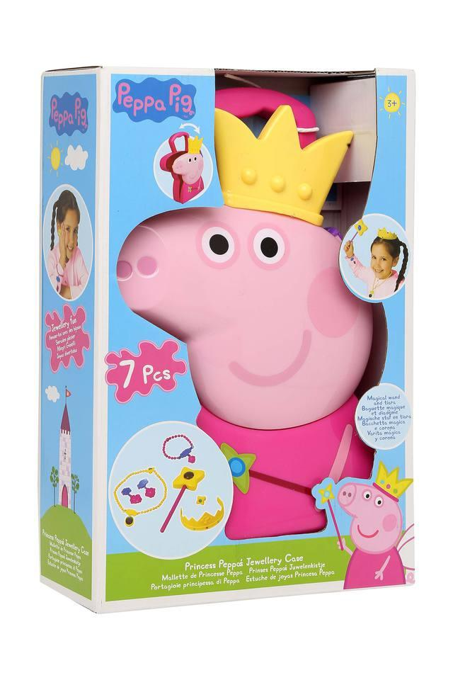 Kids Peppa Pig Jewellery Case Toy Set - 7 Pieces