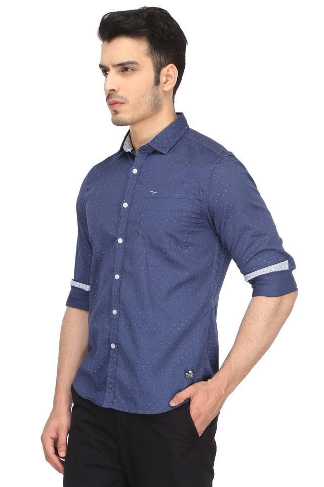 Mens Dot Pattern Casual Shirt