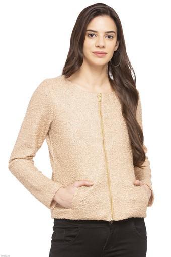 Womens Round Neck Shimmer Sweatshirt
