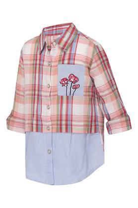 Girls Collared Check Shirt