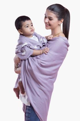PLUCHINursing Poncho With Birdies Baby Blanket