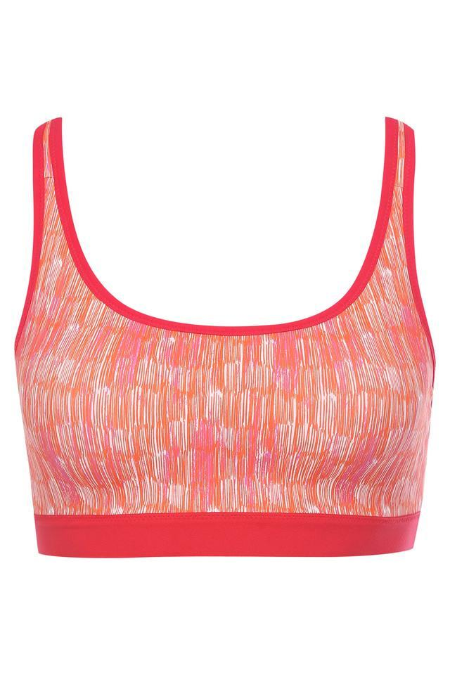 Womens Printed Non Padded Non Wired Sports Bra