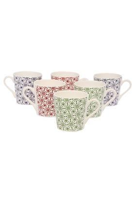 IVY Printed Coffee And Tea Set - Pack Of 6